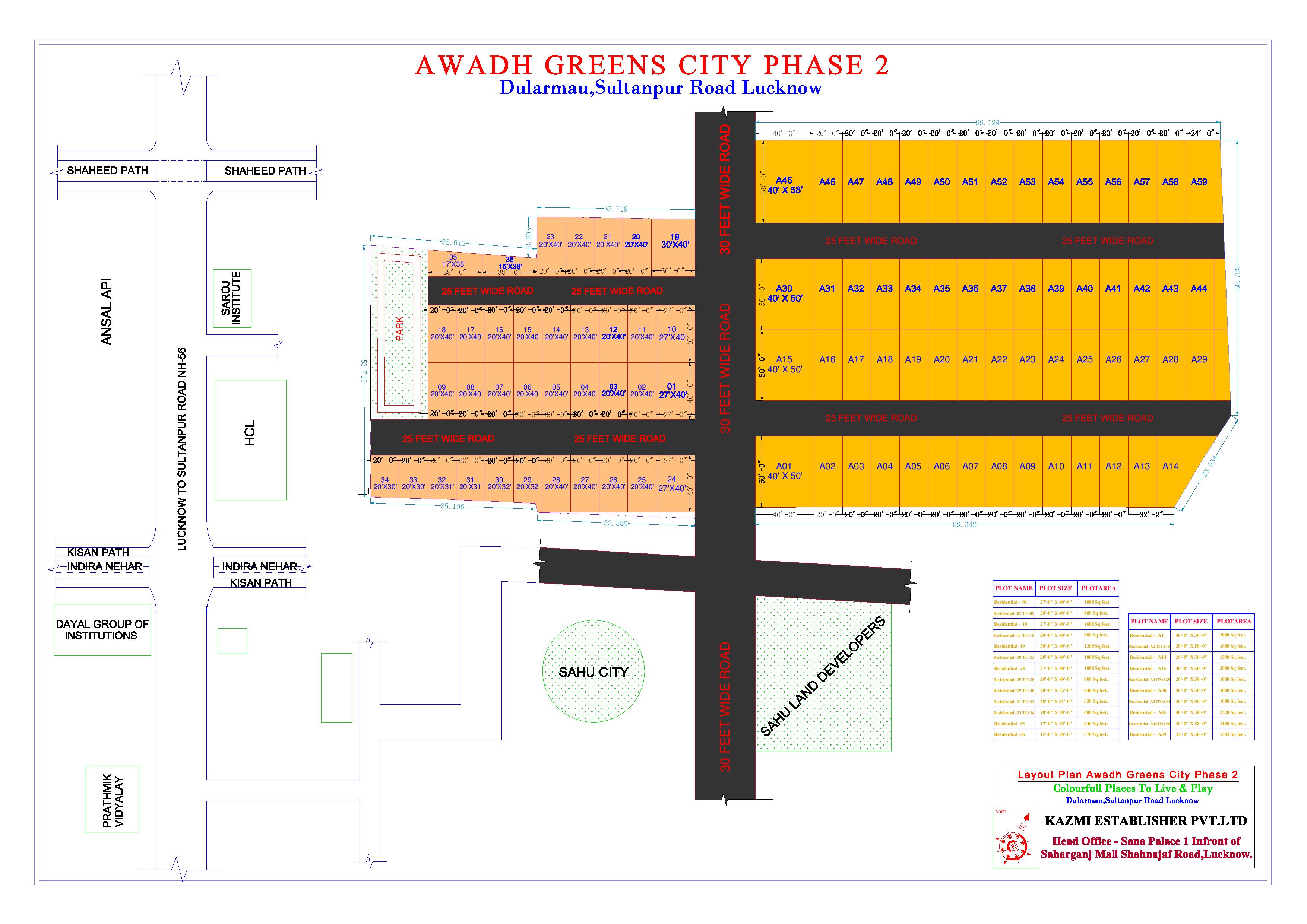 Plots on Lucknow Varanasi Highway