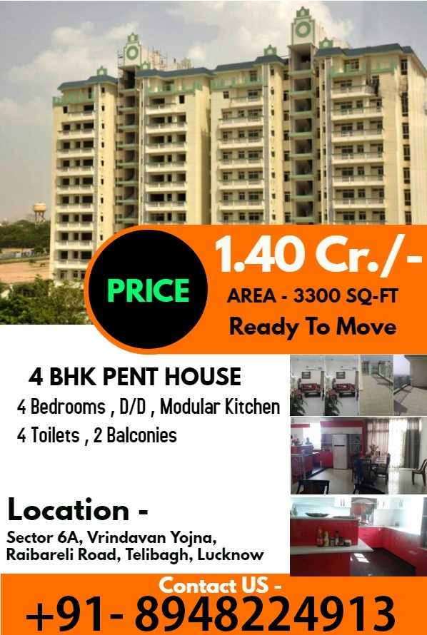 4 BHK Duplex Penthouse In Lucknow